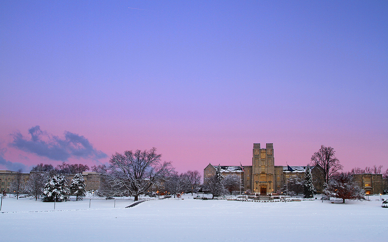 2013.01.18. Burruss Hall.