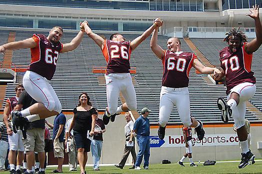 Virginia Tech Football Jump