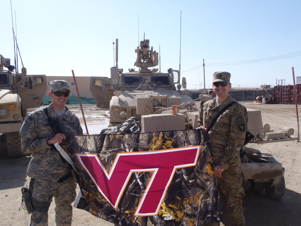 Virginia Tech Military Love Flag